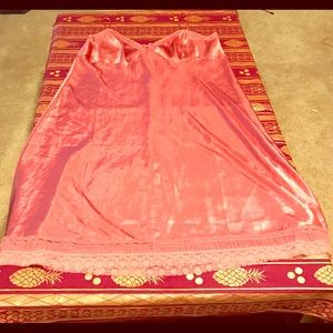 A nice silky mauve colored sleeping gown